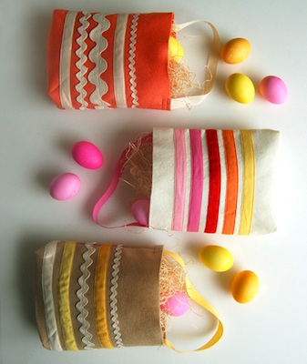 The Purl Bee easter egg hunt bags