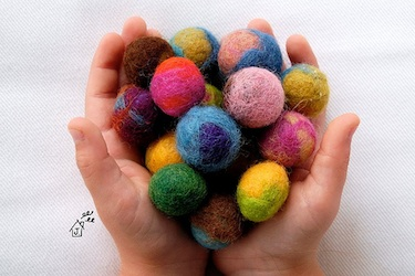 TYV Crafting With Kids felted balls