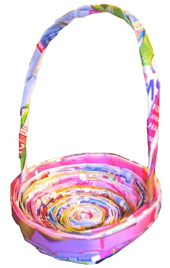 Roots Of Simplicity newspaper easter basket