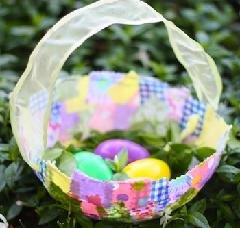 I Can Teach My Child! fabric collage easter baskets