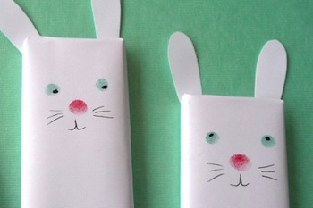 The Crafts Dept. paper covered chocolate bunnies