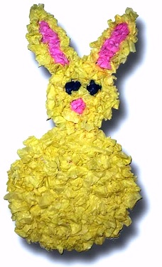 Paper Crafts For Children scrunched tissue bunny