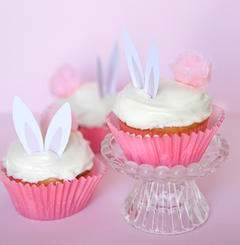 One Charming Party bunny cupcake printable