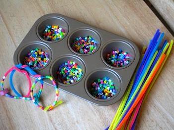 Muffin Tin Mom perler bead bracelets