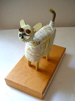Use Your Coloured Pencils pet sculptures