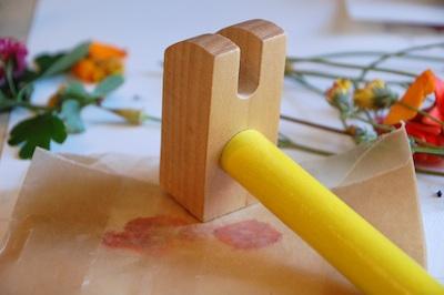 Tinker Lab hammered flowers bookmark 4