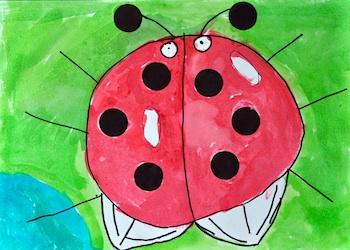 The Little Red Hen ten black dots book project