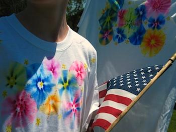 Butterfly Jungle fireworks t-shirt