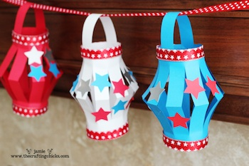 The Crafting Chicks 4th of july paper lanterns