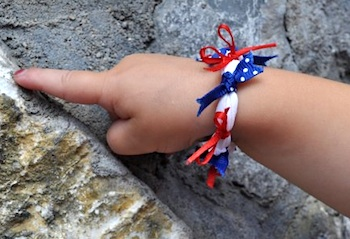 The Mother Huddle 4th of july bracelets