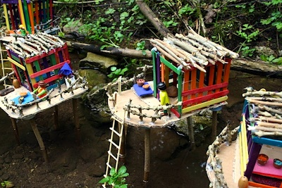 Reciclando en la Escuela popsicle stick houses