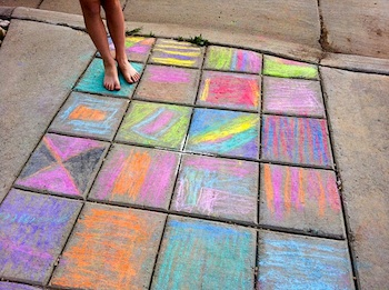 Flax & Twine chalk sidewalk quilt