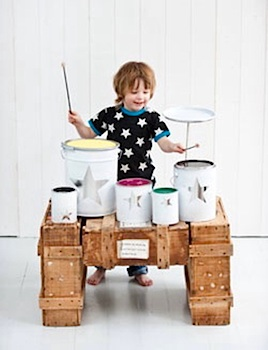 Little.Lovely diy drumset