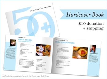 Hardcover recipe book