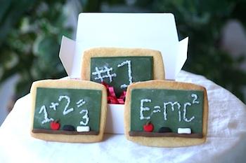The Sugar Turntable chalkboard cookies