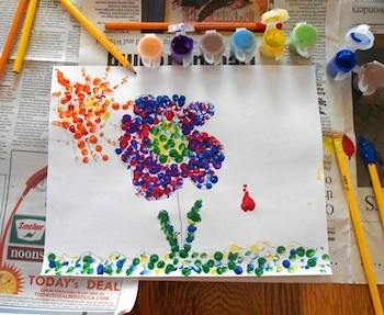 Almost Unschoolers pointilism art experience