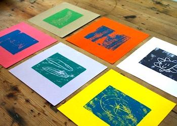 The Long Thread balsa wood prints