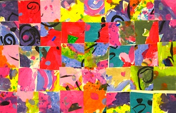 Mrs. Picasso's Art Room art paper collage