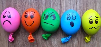stress balls balloons filled with playdough