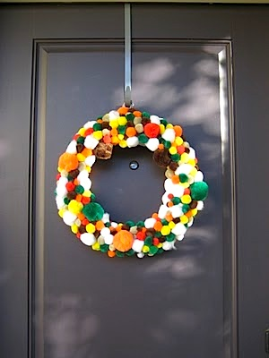 C.R.A.F.T. fall pompom wreath