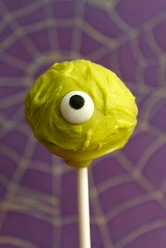Baked Perfection halloween monster cake pops