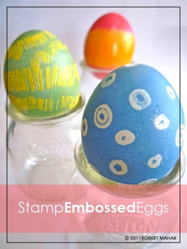 Junior Society embossed eggs