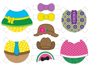 Sandy Toes And Popsicles peeper dolls printable 2
