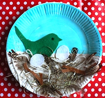 Arts And Crafts For Tots bird nest paper plate craft  sc 1 st  The Crafty Crow & Paper Plate Bird\u0027s Nest Craft - Things to Make and Do Crafts and ...