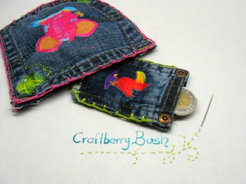 Craftberry Bush jean pocket redo