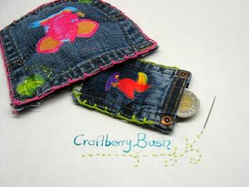 Craftberry Bush jean pocket redo