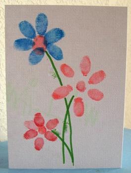 Serving Pink Lemonade fingerprint flowers