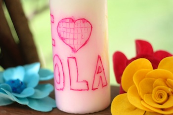 I Can Teach My Child personalized candle