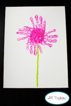Meet The Dubiens handprint flower