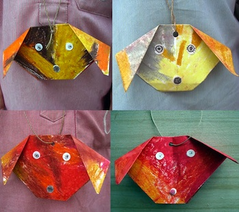 Manuales origami dog necklaces