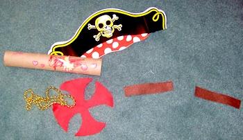 4 Crazy Kings pirate treasure map x