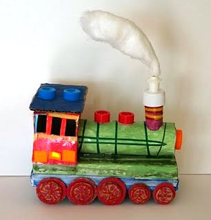 Little Train From Recycled Materials