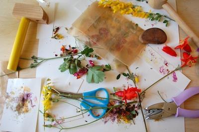 Tinker Lab hammered flowers bookmark 2