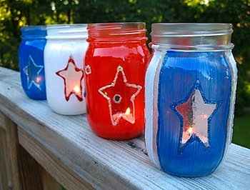 Crafts By Amanda 4th of july luminarias