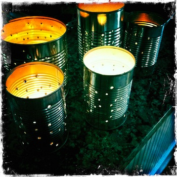 Mama Scout tin can lanterns