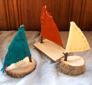 simple wood boats kids craft