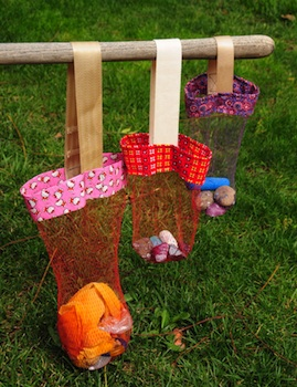recycled kids craft mesh collecting bag
