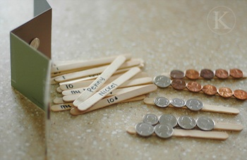 Katherine Marie Photography popsicle stick coin match craft