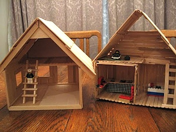 Almost Unschoolers Basswood And Popsicle Stick Doll House