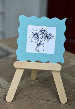 Ikat Bag popsicle stick easel