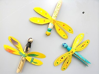 clothespin dragonfly magnets things to make and do