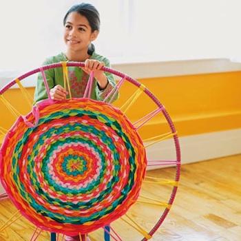 hula hoop rug kids craft