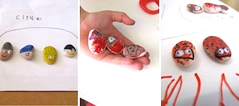 rock bugs kids craft