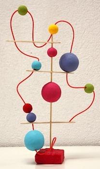 Pinta La Luna bead sculpture