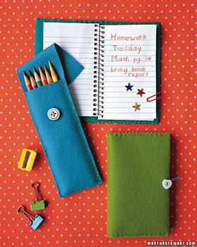 Martha Stewart felt pencil pouches