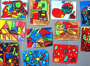 Abstract Art Lesson Things To Make And Do Crafts And Activities